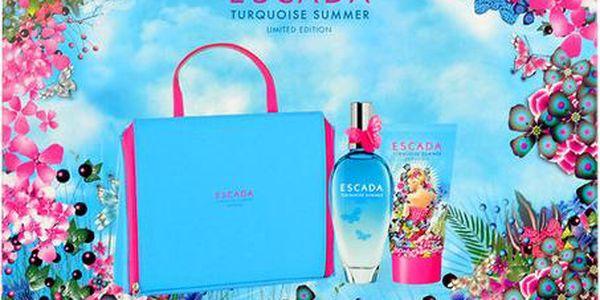 Toaletní voda Escada Turquoise Summer EDT 100ml + 150ml body lotion + kosmetická taška