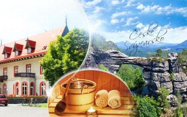 České Švýcarsko! TŘI DNY pro DVA s POLOPENZÍ a SAUNOU v srdci Národního parku, platnost do října 2016!