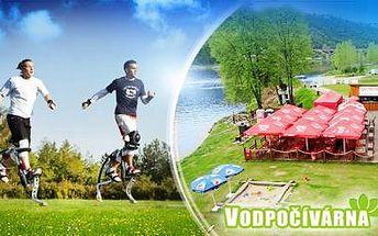 SKÁKACÍ BOTY Poweriser na 60 minut přímo na stezce u Vltavy - adrenalin ve Vodpočívárně na Praze 4!