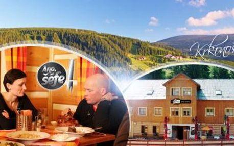 Krkonoše na 3 dny pro DVA s POLOPENZÍ a lahví vína! Pec pod Sněžkou, hotel Hvězda oceněný v pořadu Ano, šéfe!