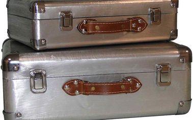Set kufrů Silver, 2 ks
