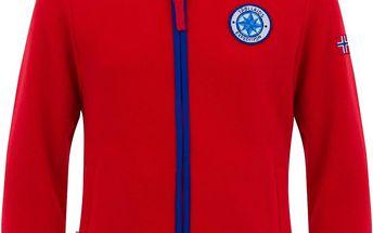 Dětská propínací fleecová bunda/mikina - červená