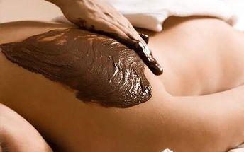 Čokoládová masáž - kokosový peeling, čoko-zábal, šálek italské čokolády