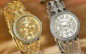 Luxusní dámské hodinky Geneva s krystaly Swarovski Elements