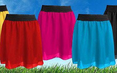 Dámská šifónová sukně pro horké letní dny v 5 barvách