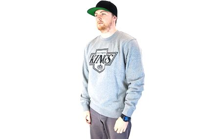 Mikina Mitchell & Ness Los Angeles Kings Team Logo Crewneck