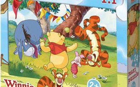 Puzzle Medvídek Pú ze speciálně silného kartonu a velkými dílky