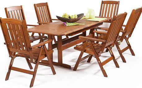 BALTIC GARDEN Sven 6+ set zahradního nábytku Zdarma 3ks bambusových loučí černých 90cm