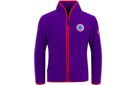 Dívčí propínací fleecová bunda/mikina - fialová