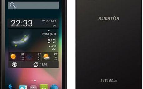 Mobilní telefon Aligator S4515 Duo (AS4515G) šedý