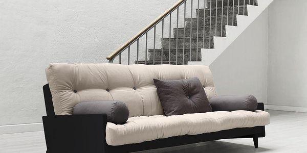 Rozkládací sofa Indie, vision/black - doprava zdarma!