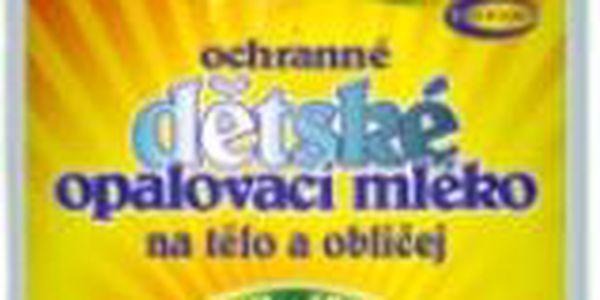 Dětské opalovací mléko Topvet Safari 200 ml s ochranným faktorem 50!