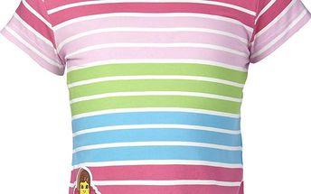 Dívčí pruhované tričko - barevné