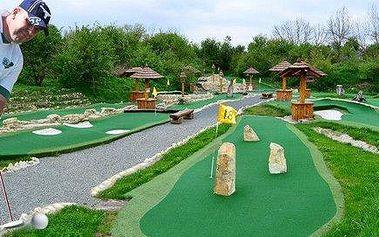 Celodenní vstupné na putting golf včetně občerstvení