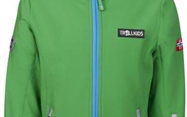 Chlapecká nepromokavá softshellová bunda - zelená