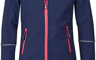 Dívčí nepromokavý softshellový kabát - tmavě modrý