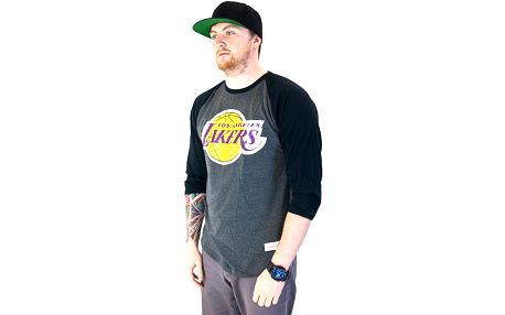 Triko Mitchell & Ness Team Logo Reglan Los Angeles Lakers Grey