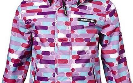 Dívčí jarní vzorovaná bunda - fialová