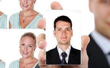 4 průkazové fotky a ateliérový portrét jen za 39 Kč
