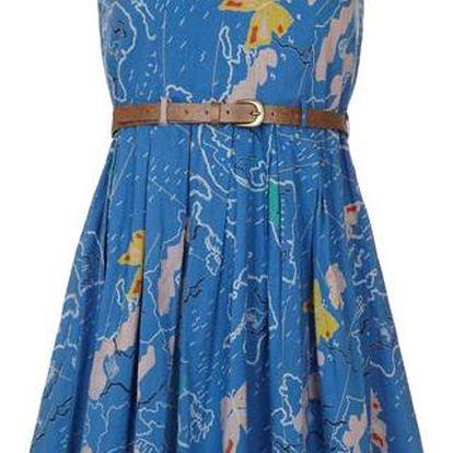 YUMI Dásmké šaty YN330 _Blue