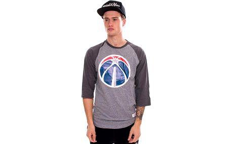 Triko Mitchell & Ness Team Logo Reglan Washington Wizards Grey