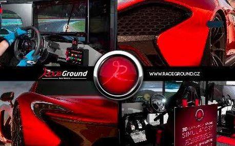 Závodní automobilový trenažér - adrenalin pro chlapy