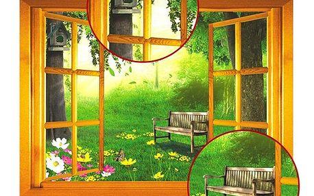 3D samolepka - okno do přírody