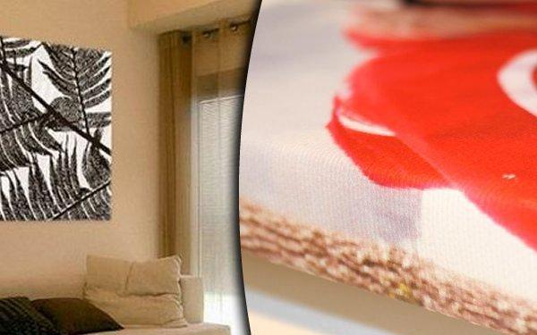 Fotoobraz z vlastních fotografií na plátně na ručně napnutém smrkovém rámu, 6 rozměrů.
