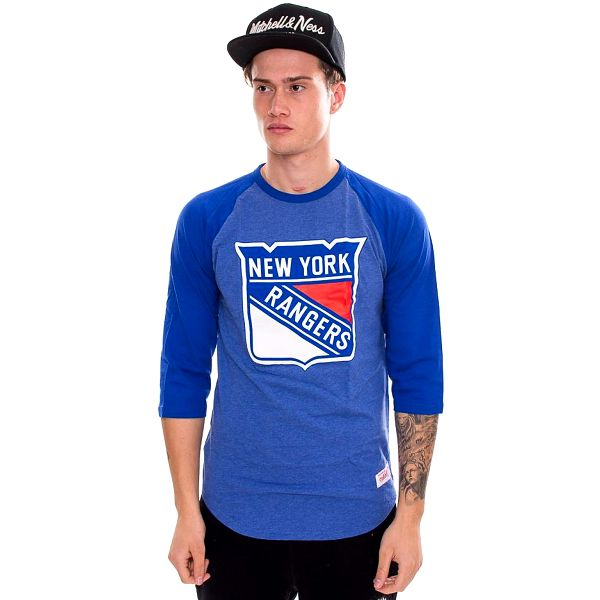 Triko Mitchell & Ness Team Logo Reglan New York Rangers Blue