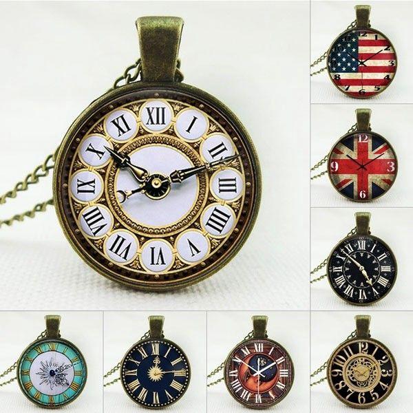 Přívěsek v designu závěsných hodinek - 8 motivů