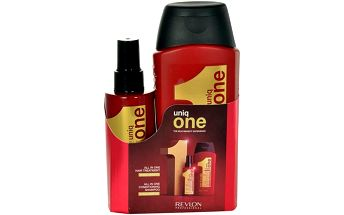 Revlon Uniq One Kit dárková sada W - 150 ml Uniq One + 300ml Uniq One Conditioning Shampoo Neoplachovací maska 10v1