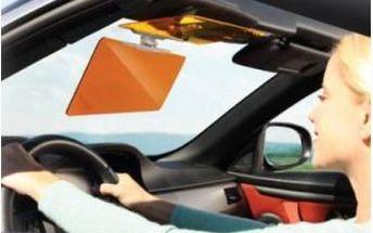 Noční a denní clona HD Vision Visor do auta. Pohodlná a bezpečná jízda při silném sluníčku!