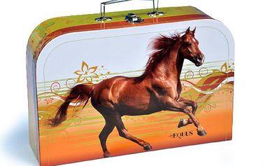 Kufr Kůň, šitý, 35 x 23,5 x 10 cm