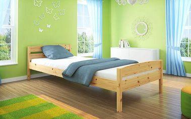 Klasická postel z masivní borovice