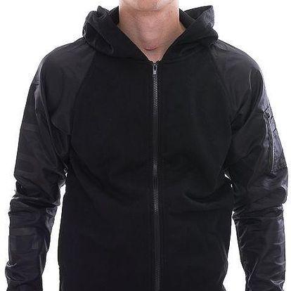 Mikina s kapucí DOPE Couture Bomber Zip Hoodie Black černá