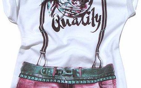 Gelati Dívčí tričko s obrázkem, bílé
