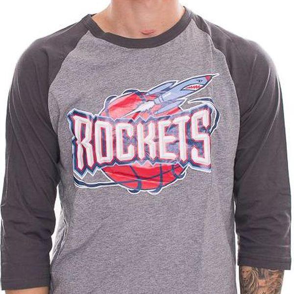 Triko Mitchell & Ness Team Logo Reglan Houston Rockets