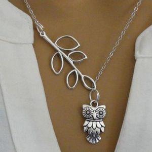Vintage řetízek na krk Stříbrná sova!