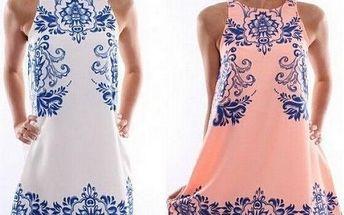 Elegantní šaty s potiskem krajky Moravian!