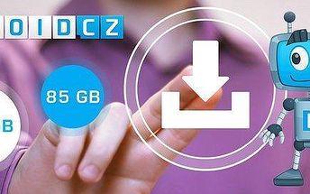 Kredit 85 GB či 215 GB na hudbu, videa i další data