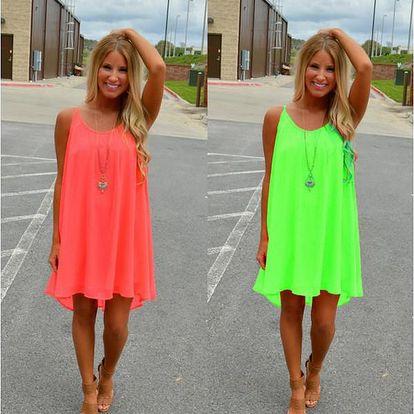 Barevné letní šaty Neon s rafinovanými zády!