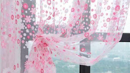Záclona s kytičkami 200x100 cm!