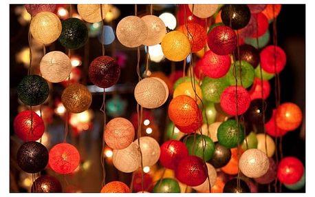 Světelné řetězy Cotton Balls s 20 kuličkami - VÝPRODEJ!