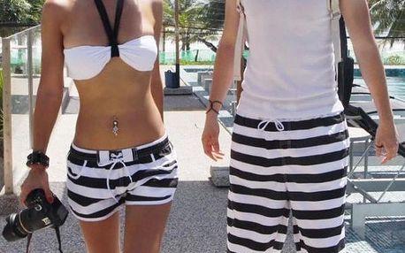 Stylové plážové šortky Perfect Couple - pořiďte si dvoje stejné do páru!