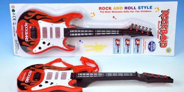 Elektrická kytara na baterie pro děti!