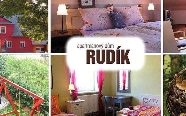 5 nebo 7 dní pro 2 osoby v apartmánovém domu Rudík v centru horského městečka Železná Ruda!