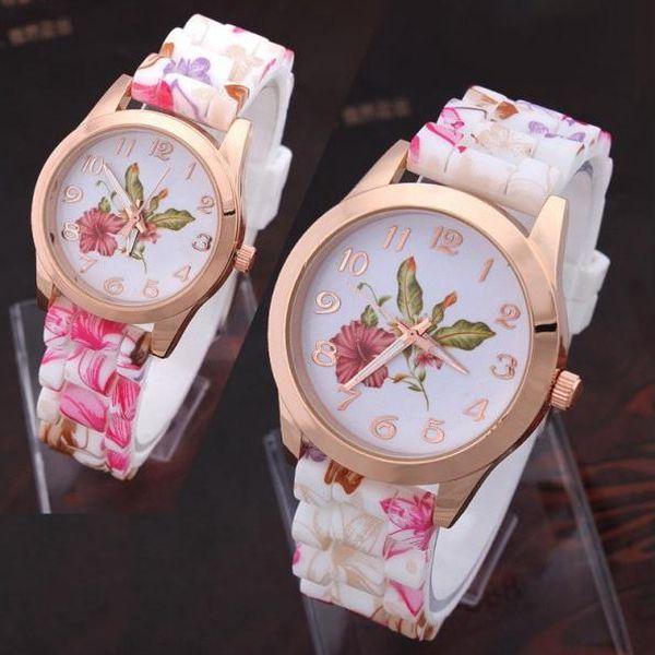 Dámské hodinky s květinovým vzorem - ukažte svou romantickou duši!
