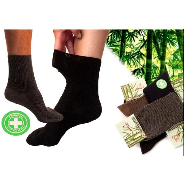 Zdravotní ponožky bez gumičky s bambusovým vláknem - 5 párů!