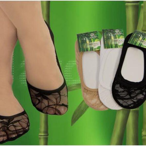 15 párů - Ponožky do balerínek s bambusovým vláknem!