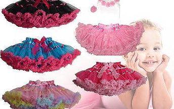 Módní kolekce sukének a kompletů TUTU pro malé princezny
